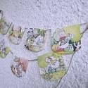 Lovas girland, Baba-mama-gyerek, Gyerekszoba, Mobildísz, függődísz, Fotó, grafika, rajz, illusztráció, Lovacskás girland gyerekszobába A képek mérete 10cmx9,5 cm 8db van egy csomagban, 1m madzagon  Van ..., Meska