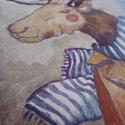 Szarvas Tomi festmény, Otthon, lakberendezés, Képzőművészet, Falikép, Illusztráció, Fotó, grafika, rajz, illusztráció, Festészet, Keretezhető szarvasos illusztráció A/5 méretben Print- eredeti másolata! Aláírva, számozva- összese..., Meska