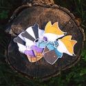 Matrica, Dekoráció, Naptár, képeslap, album, Róka és borz matrica. 10cm magasak,  matt matricapapíron. 1 csomagban: 2-2 db + egy kisebb ajánd..., Meska