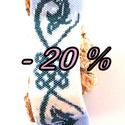 - 20 %! Kék Kelta, Ékszer, óra, Ruha, divat, cipő, Karkötő, Ékszerkészítés, Gyöngyfűzés, A terméknél már az akciós ár szerepel.  Fantasztikusan szép opálos achát kék, gyöngyházfényű hófehé..., Meska
