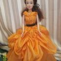 Belle a szépség ruha, Játék, Baba, babaház, Belle a szépség igazi szép estélyi ruhájában.Sárga selyemből készült,1500Ft igény szerint..., Meska