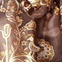 Rábaközi mintával festett selyemsál, Magyar motívumokkal, Ruha, divat, cipő, Női ruha, 40x150 cm 100% selyem sál. A sál mintáját a gazdag Rábaközi hímzés motívumvilágából vál..., Meska