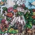 Manólak - kannácska kézzel festett selyemkép, Dekoráció, Képzőművészet, Otthon, lakberendezés, Kép, Színes, mesés egyedi, kézzel festett selyemkép saját ötlet, elképzelés alapján. Belső mesevilágomból..., Meska