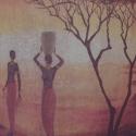 Teher- / vízhordó lányok - mécsestartó - rendelésre, 6 ágú, réz betéttel ellátott fa mécsestartó...