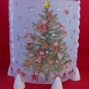 """Karácsonyi manós mécsestartó, \""""Karácsonyfa! Karácsony. Aranydió zöld ágon!..."""