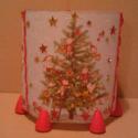 """Karácsonyi manós mécsestartó - Juditnak, \""""Karácsonyfa! Karácsony. Aranydió zöld ágon!..."""