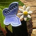 Szeress, Dekoráció, Dísz, Kicsit bohókás,nagyon rusztikus,nagyon egyedi. :) Pici kerámia virágot készítettem fehérre é..., Meska