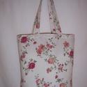 Rózsa virágos táska , Táska, Baba-mama-gyerek, Szatyor, Válltáska, oldaltáska, Varrás, Szeretnéd megóvni gyermekednek, unokádnak a természetet.  Használj minél kevesebb műanyag táskát, s..., Meska