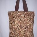Dugó mintás táska , Táska, Szatyor, Válltáska, oldaltáska, Férfi táska, Barna dugó mintás 100 % vékony vászon anyagból készült ez a táska!   Oldalán és alján dup..., Meska