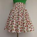 Fehér Cseresznyés szoknya . , Ruha, divat, cipő, Női ruha, Szoknya,  Klasszikus Rockabilly stílusú Pin Up cseresznyés szoknya.  Köszönöm, hogy benéztél, szép napot kívá..., Meska