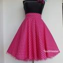 Pink  Pöttyös Rockabilly szoknya., Ruha, divat, cipő, Női ruha, Szoknya, Rockabilly Pin Up stílusú pöttyös szoknya.  Klasszikus stílusú  vidám szoknya.Pöttyös pamutvászonból..., Meska