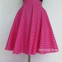 Pink Rockabilly stílusú szoknya , Ruha, divat, cipő, Esküvő, Női ruha, Szoknya, Varrás,  Klasszikus Rockabilly stílusú Pin Up nyári szoknya. (alsószoknya nélkül)   Köszönöm, hogy benéztél..., Meska