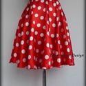 Minnie  Rockabilly Pin Up stílusú pöttyös szoknya ., Ruha, divat, cipő, Esküvő, Női ruha, Szoknya, Varrás, Klasszikus  stílusú  vidám szoknya. Pöttyös Szaténból készült,  szatén széles derékpánttal.  Köszön..., Meska