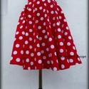 Minnie  Rockabilly Pin Up stílusú pöttyös szoknya ., Ruha, divat, cipő, Esküvő, Női ruha, Szoknya, Klasszikus  stílusú  vidám szoknya. Pöttyös Szaténból készült,  szatén széles derékpánttal.  Köszönö..., Meska