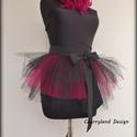 Cherryland Design Fekete tulipán Tütü , Ruha, divat, cipő, Női ruha, Szoknya, Cherryland Design Fekete tulipán Tütü selyem masnival.   A tütü hossza 30-35 cm , felárral hosszabb ..., Meska