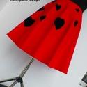 Cherryland Design Valentine's Collection / Vörös Szívek  szoknya., Ruha, divat, cipő, Szerelmeseknek, Női ruha, Szoknya, Cherryland Design Valentine's Collection / Vörös Szívek  szoknya. Egyedi méretben és kivitelben kész..., Meska