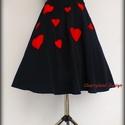 Cherryland Design Valentine's  Collection / Fekete Szívek  szoknya /Alsószoknya., Ruha, divat, cipő, Szerelmeseknek, Női ruha, Szoknya, Cherryland Design Valentine's  Collection / Fekete Szívek  szoknya /Alsószoknya.  Egyedi méretben és..., Meska