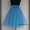 Cherryland Design Kék Tüll Szoknya˛/Blue Tulle Skirt, Ruha, divat, cipő, Gyerekruha, Női ruha, Szoknya, Cherryland Design Kék Tüll Szoknya˛/Blue Tulle Skirt Egyedi méretek alapján , megrendelésre készül. ..., Meska