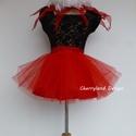 Cherryland Design Vörös tulipán Tütü , Ruha, divat, cipő, Gyerekruha, Női ruha, Farsangi jelmez, Cherryland Design Vörös tulipán Tütü  szoknya ,selyem masnival.   A tütü hossza 30-35 cm , felárral ..., Meska