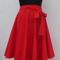 Cherryland Design Piros pamutvászon   Rockabilly stílusú szoknya , Ruha, divat, cipő, Esküvő, Női ruha, Szoknya, Cherryland Design Piros Rockabilly stílusú szoknya    Egyedi méretek alapján , megrendelésre készül...., Meska