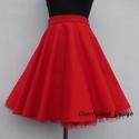 Cherryland Design Piros pamutvászon   Rockabilly stílusú szoknya /Alsószoknya, Ruha, divat, cipő, Esküvő, Női ruha, Szoknya, Cherryland Design Piros pamutvászon Rockabilly stílusú szoknya /Alsószoknya  Egyedi méretek alapján ..., Meska