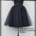 Cherryland Design Fekete Tüll Szoknya /Black Tulle Skirt, Cherryland Design Fekete Tüll Szoknya /Black Tull...