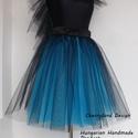Kék Árnyalat Tüll Szoknya/Blue Shades Tulle Skirt, Kék-Fekete Tüll Szoknya Egyedi méretek alapján...