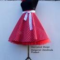 Cherryland Design Piros-Fehér pöttyös rockabilly szoknya./Alsószoknyával, Piros-Fehér Pöttyös Rockabilly szoknya./Alsósz...
