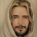 """Jézus a Tanító, Képzőművészet, Festmény, Olajfestmény, Festészet, Egy korábbi megrendelésre készült munkám: Jézus a Tanító. A képet a """"Son of God"""" című film ihlette...., Meska"""