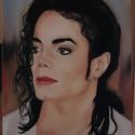 """Michael Jackson, Black Or White, Képzőművészet, Festmény, Olajfestmény, Festészet, Michael Jackson """"Black or White"""" című dalának klipforgatásán készült fotója alapján festettem. Mich..., Meska"""