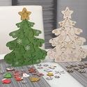 Festhető karácsonyfa felakasztható díszekkel, Alkossunk együtt! Ez a karácsonyfa természetes ...