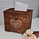 Esküvői pénzgyűjtő ládika - dió színben, Esküvői pénzgyűjtő ládika A nászajándék b...