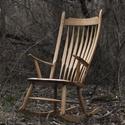 Windsor, Bútor, Szék, fotel, Famegmunkálás, A klasszikus angol típusú szék hintaszékesítve, modernebb köntösbe bújtatva. Ez a szék 250 évnyi sz..., Meska