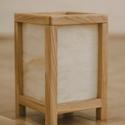 Shoji lámpa, Otthon, lakberendezés, Lámpa, Asztali lámpa, Hangulatlámpa, Famegmunkálás, Üvegművészet, Japán stílusú fából és üvegből készült asztali lámpa.   Méretei: 24,5 x 16 x 16 cm, Meska