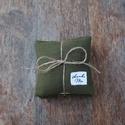 Zöld-kockás  levendula párna, Dekoráció, Esküvő, Otthon, lakberendezés, Mindenmás, Egy csomagban három egyforma levendula párna van. A levendula párnák varrásánál újra hasznos..., Meska