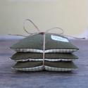 Zöld-kockas  levendula párna, Dekoráció, Esküvő, Otthon, lakberendezés, Mindenmás, Egy csomagban három egyforma levendula párna van. A levendula párnák varrásánál újra hasznos..., Meska