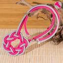 - Boa - paracord nyaklánc 2 szálas, Ékszer, Nyaklánc, Ez a kelta stílusú paracord nyaklánc két részből áll. Pink és szürke paracord szálból. Szalagzáróval..., Meska