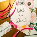 Vidám amerikai stílusú esküvői meghívó, Esküvő, Meghívó, ültetőkártya, köszönőajándék, Fotó, grafika, rajz, illusztráció, Egyedi vidám amerikai stílusú esküvői meghívó  Hívd meg vendégeid ezzel az egyedi készítésű meghívó..., Meska