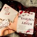 Romantikus, amerikai stílusú esküvői meghívó, Esküvő, Meghívó, ültetőkártya, köszönőajándék, Fotó, grafika, rajz, illusztráció, Egyedi romantikus stílusú esküvői meghívó  Hívd meg vendégeid ezzel az egyedi készítésű meghívóval...., Meska