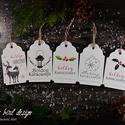Karácsonyi kísérőkártya csomag verz.2, Dekoráció, Ünnepi dekoráció, Karácsonyi, adventi apróságok, Ajándékkísérő, képeslap, Fotó, grafika, rajz, illusztráció, Papírművészet, Karácsonyi kísérőkártya csomag:  A csomagtartalma: - 5 db 10,5x6,5 cm 200 g-os művészpapírból, egye..., Meska