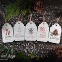 Karácsonyi kísérőkártya csomag verz.3., Dekoráció, Ünnepi dekoráció, Karácsonyi, adventi apróságok, Ajándékkísérő, képeslap, Fotó, grafika, rajz, illusztráció, Papírművészet, Karácsonyi kísérőkártya csomag:  A csomagtartalma: - 5 db 10,5x6,5 cm 200 g-os művészpapírból, egye..., Meska
