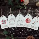 Karácsonyi ajándékkísérő kártya csomag verz.4., Otthon & lakás, Karácsony, Dekoráció, Ünnepi dekoráció, Ajándékkísérő, Fotó, grafika, rajz, illusztráció, Papírművészet, Karácsonyi kísérőkártya csomag:  A csomagtartalma: - 5 db 10,5x6,5 cm 200 g-os művészpapírból, kézz..., Meska
