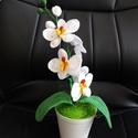 Horgolt Orchidea, Mindenmás, Képzőművészet, Otthon, lakberendezés, Vegyes technika, Saját készitésű horgolt orchidea,több színben is kérhető! Kérdésre szívesen válaszolok!, Meska