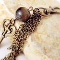 Kulcsos táskadísz bronzit ásványgyönggyel, Mindenmás, Kulcstartó, Táskadísz (vagy kulcstartónak is használható) bronz kulcs medállal, egy bronzit ásványgolyó..., Meska