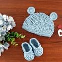 Újszülött baba szett, Játék & Gyerek, Babalátogató ajándékcsomag, Horgolás, 0-3 hónapos korig ajánlott kis sapka és kis cipő szettben, bármilyen színben kérhető. A termék rend..., Meska