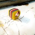 Nap gyűrűje no.1, Ékszer, Gyűrű, Papírművészet, Újrahasznosított alapanyagból készült termékek, A Nap gyűrűkollekció első tagja.   A gyűrűimet a Japán kultúra minimalizmusa ihlette. Készítésükben..., Meska