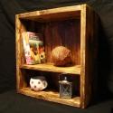 """Polc, Rusztikus polc, Bútor, Polc, Vintage jellegű """"doboz polc"""" fából. A képen lathato doboz 48x45x19 cm de a méret igény szerint válto..., Meska"""