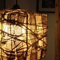 Állólámpa, rusztikus lámpa, , Otthon, lakberendezés, Lámpa, Állólámpa, Famegmunkálás, Rusztikus fa állólámpa fonott búrával. Állítható magasság és dőlésszög. Lábnyomással kapcsolható. K..., Meska