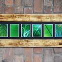 Nagyméretű Rusztikus képkeret, Képkeret, (6 db 13x18 cm fényképhez), Otthon, lakberendezés, Dekoráció, Képkeret, tükör, Kép, Rusztikus képkeret, megbeszélés alapján bármilyen méretben elkészíthető. Üveggel, paszpartuval. 2 ke..., Meska