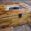 """Doboz, Ládikó, Ékszertároló, Faládikó, Fadoboz, """"Vintage"""" stílusú kis fa ládikó. Cserélhető ..."""